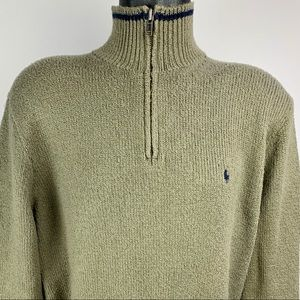 POLO By Ralph Lauren 1/4 Zip Mock Neck Sweater -XL